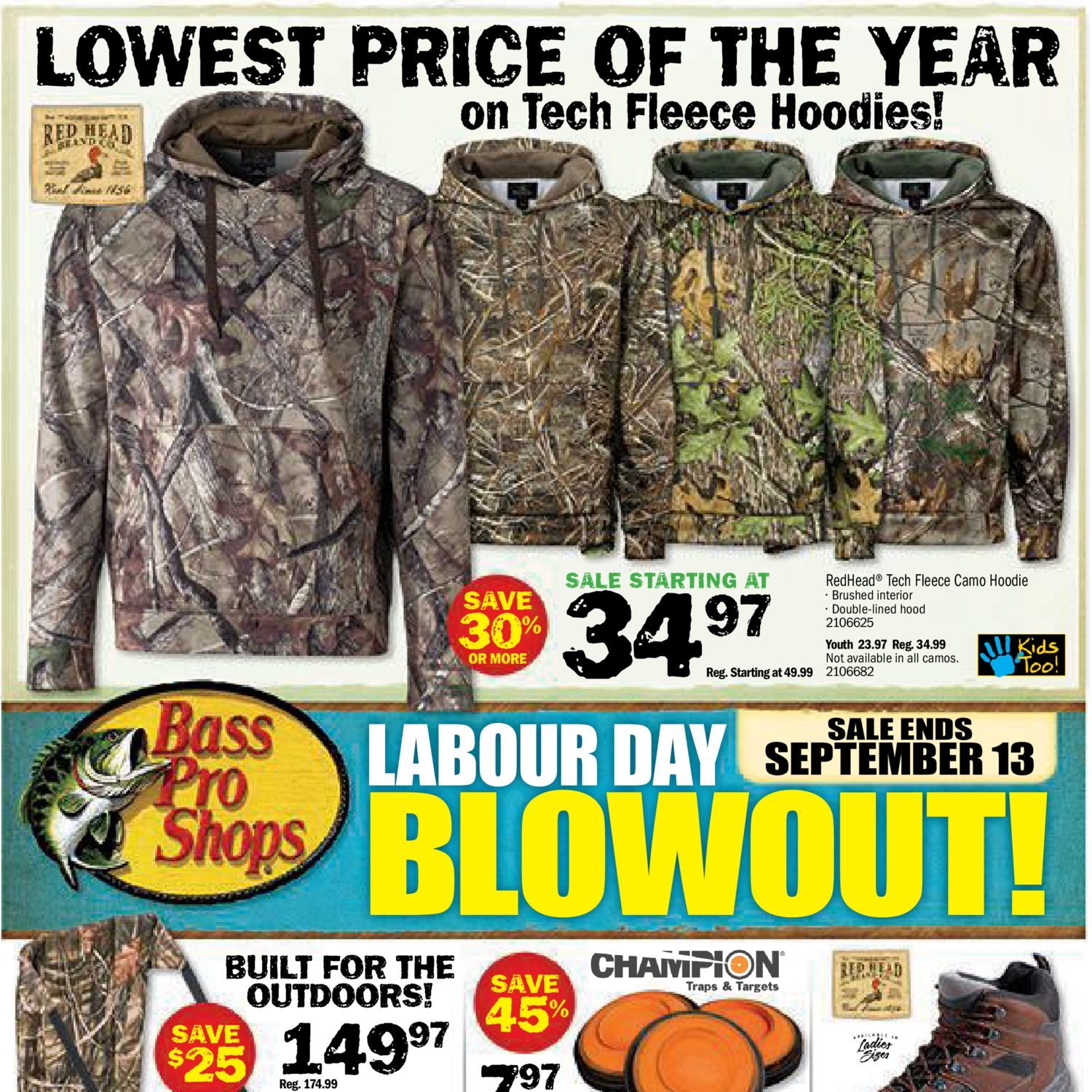 b60f2c3ae337f Bass Pro Shops Weekly Flyer - Labour Day Blowout! - Aug 31 – Sep 13 -  RedFlagDeals.com