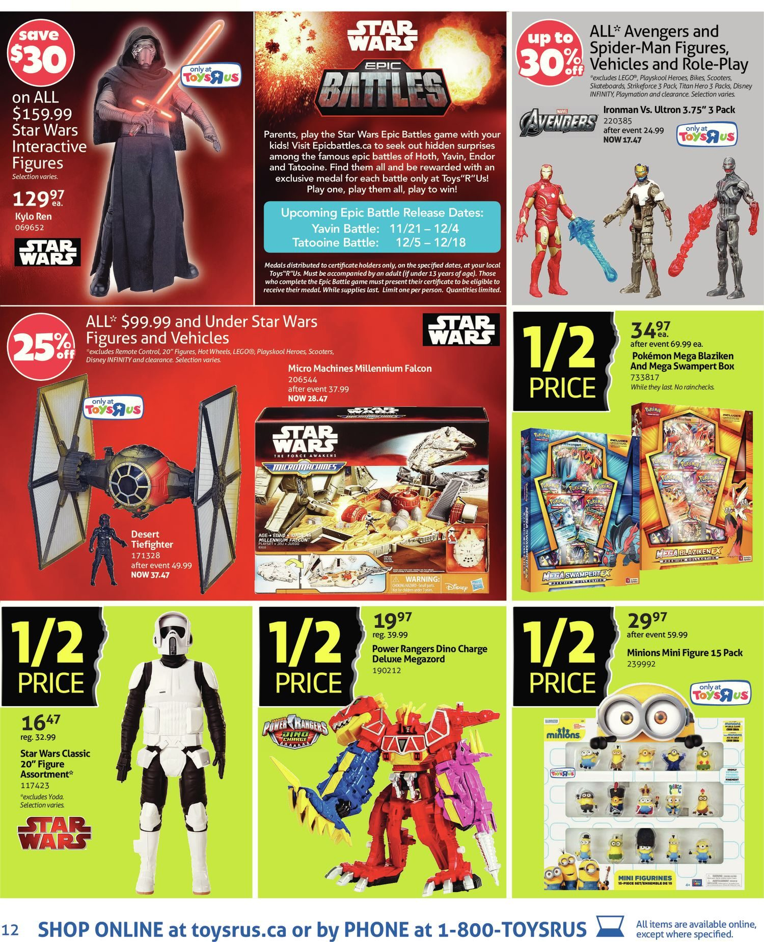 Toys R Us Weekly Flyer - Weekly - 1/2 Price Event Starts Black ...