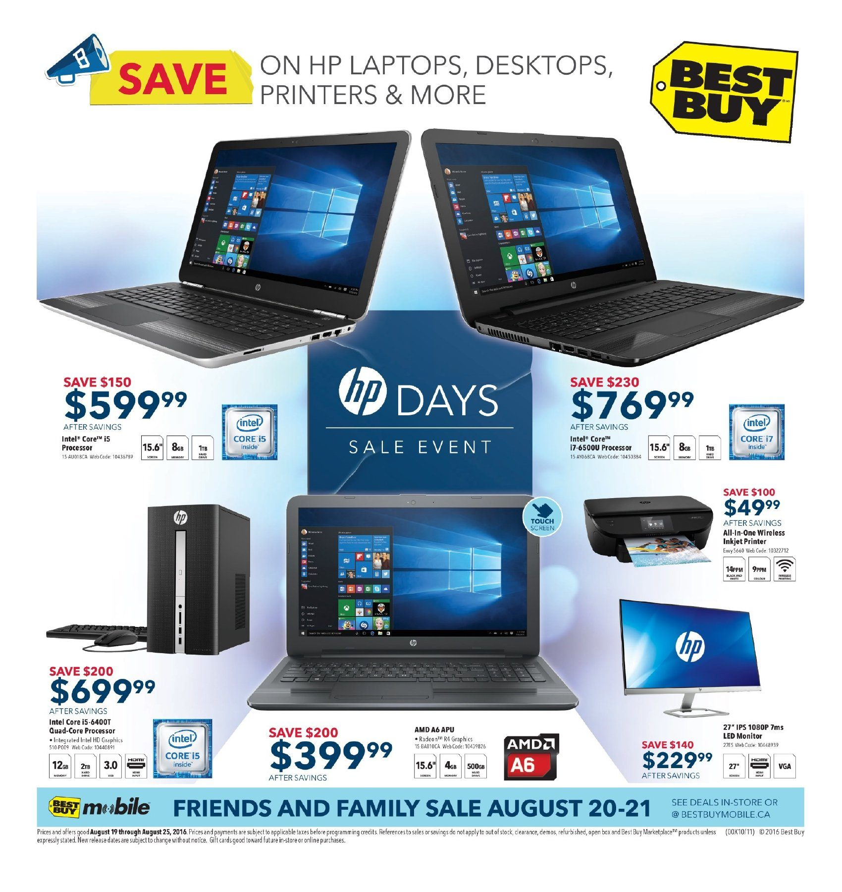 Best Buy Weekly Flyer Hp Days Sale Event Aug 19 25 Phone Jack Wiring Question For Voip Redflagdealscom Forums