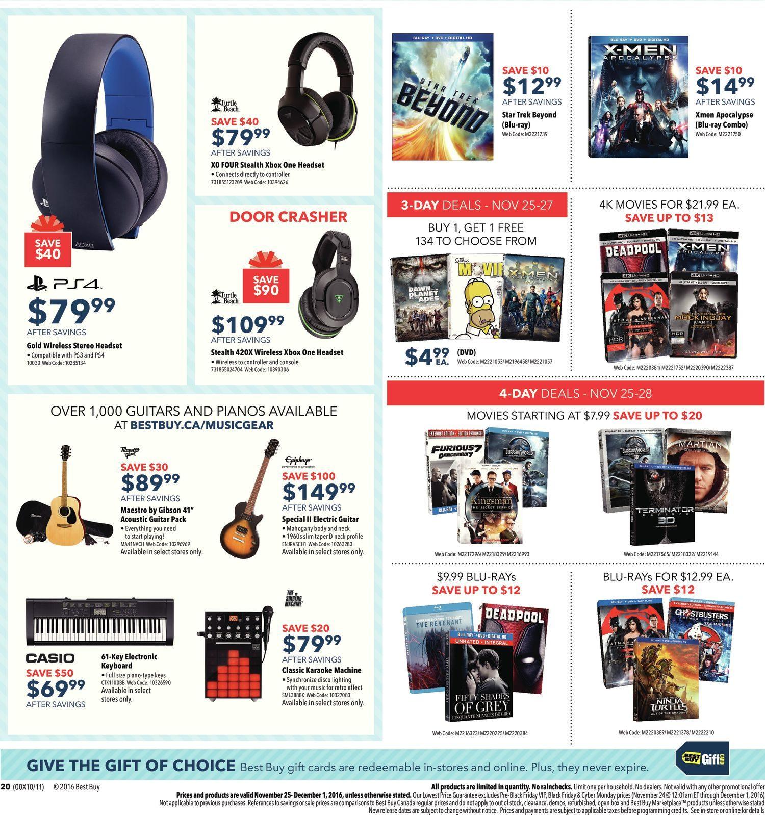 Best Buy Weekly Flyer Black Friday Sale Nov 25 Dec 1 Logitech Wireless Mouse M325 Circuit Board 910 002416