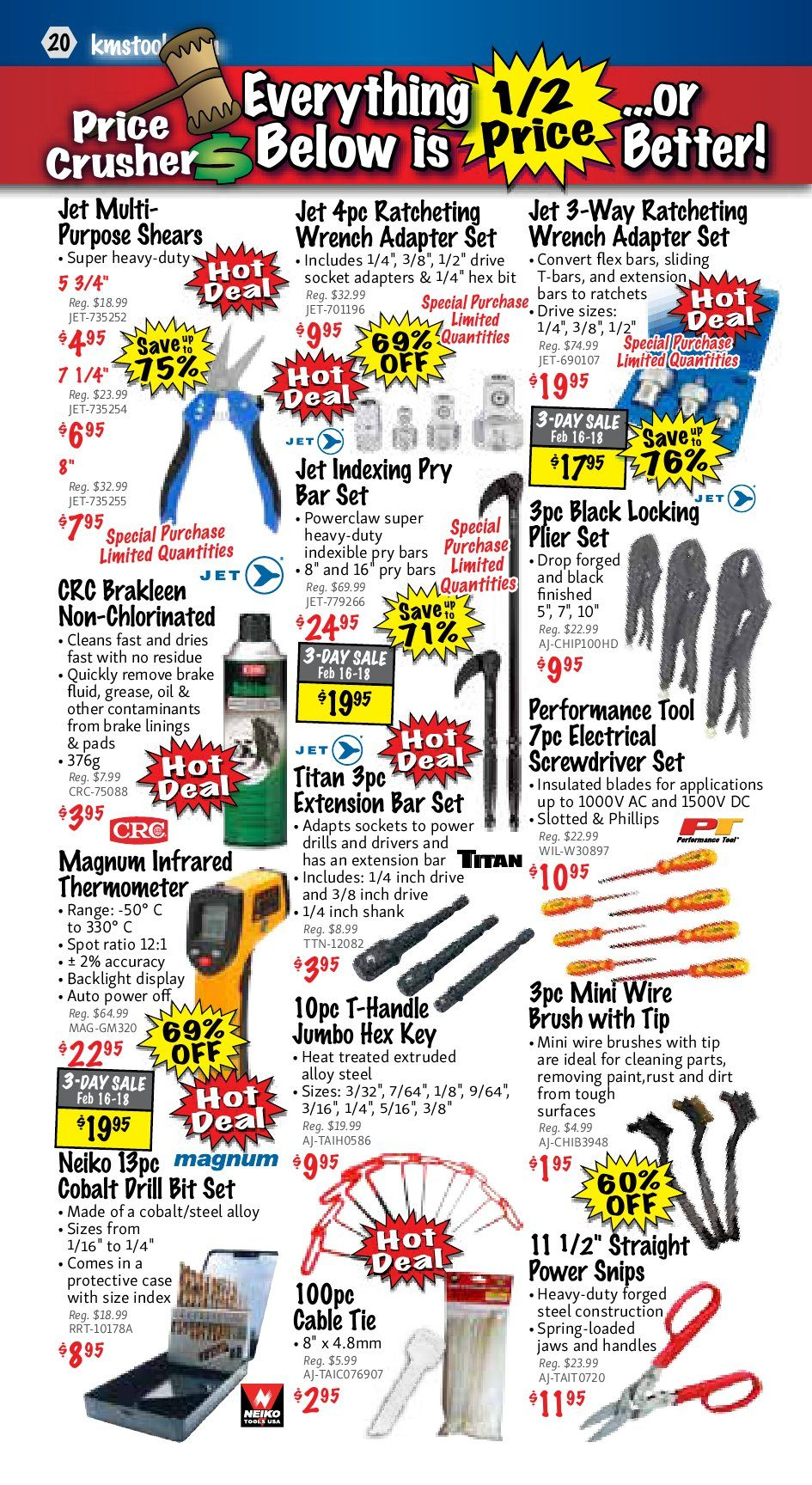 Kms Tools Weekly Flyer Welding Sale Feb 1 28 Use Toggle Switch 20amp Back And Side Wired Singlepole 81200 W