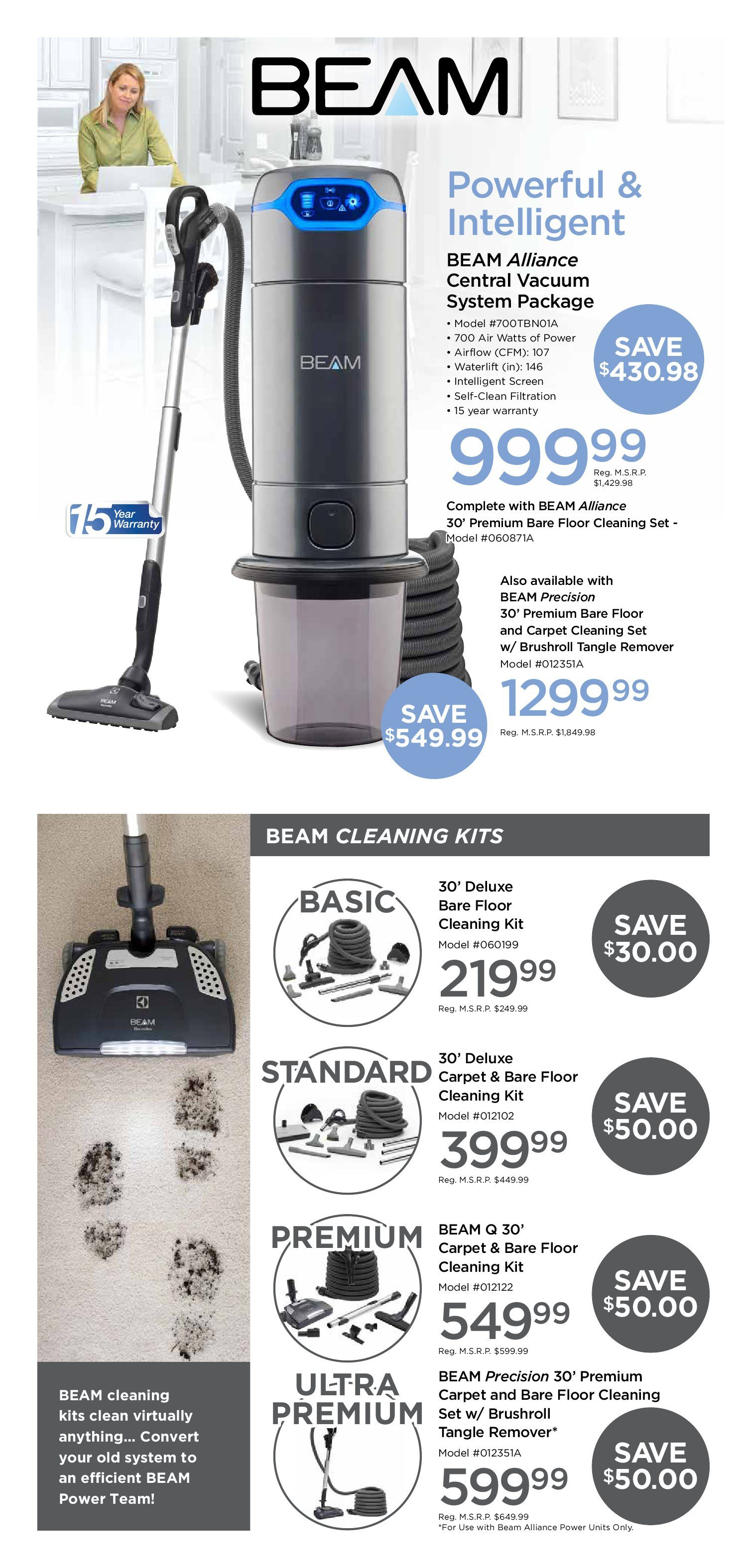 Beam Central Vacuum Weekly Flyer