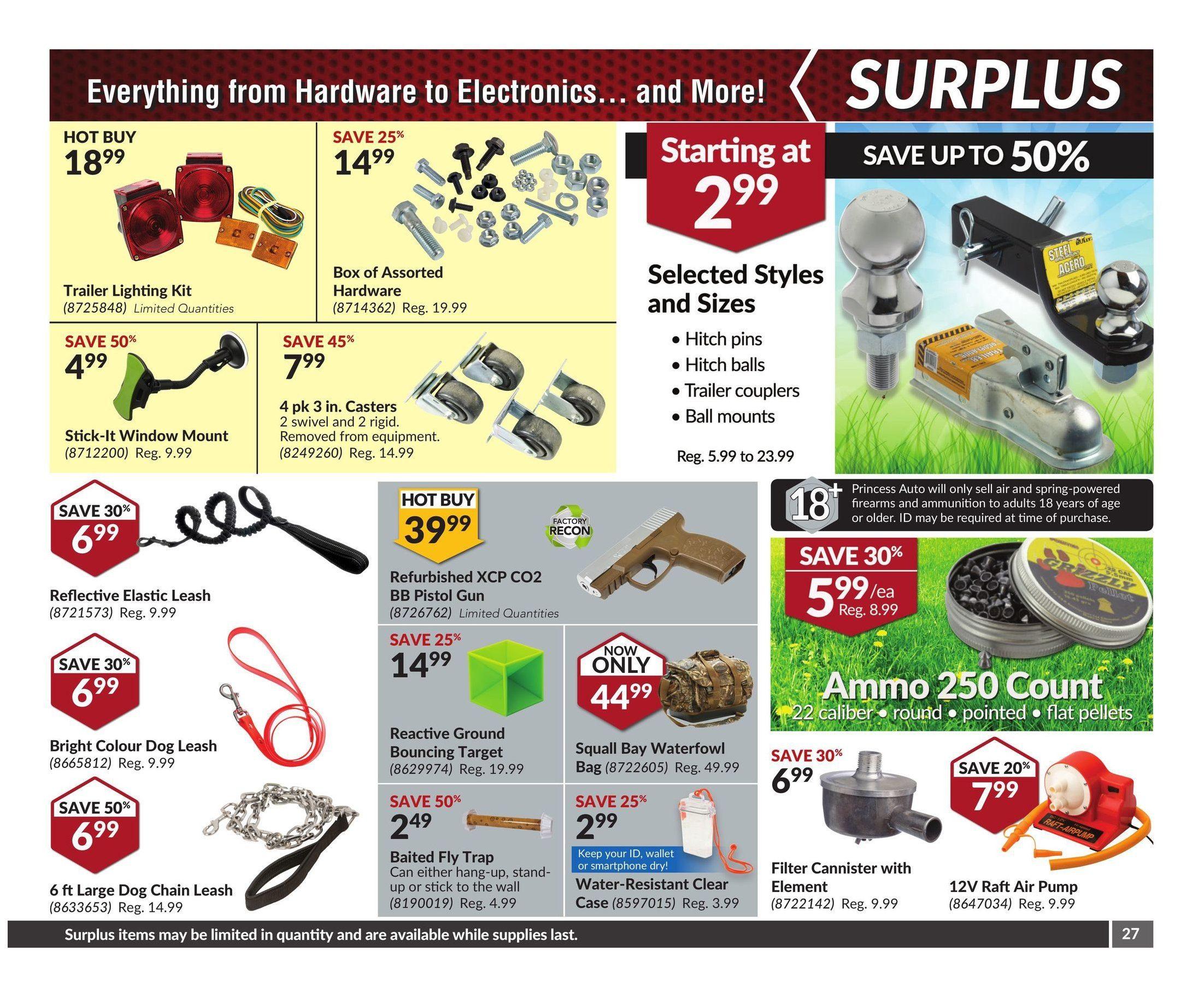 Princess Auto Weekly Flyer Sunny Spring Savings May 2 – 14
