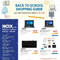 NCIX - Weekly - Back to School Shopping Guide Flyer