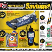 PartSource - End of Summer Savings! Flyer