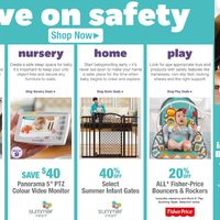 Babies R Us - Save on Safety Flyer