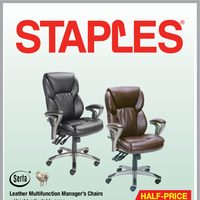 Staples - Big Chair Event Flyer