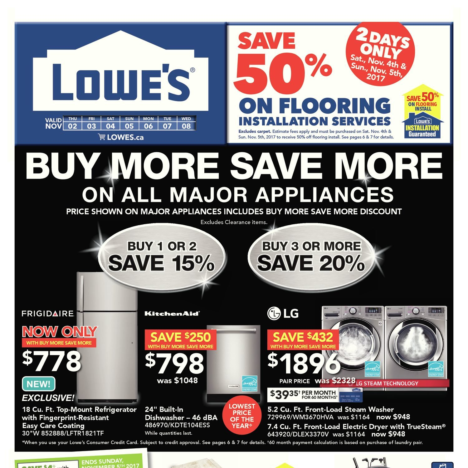 Lowes Weekly Flyer Buy More Save On All Major 5 8211 30 Minute Timer Appliances Nov 2 8