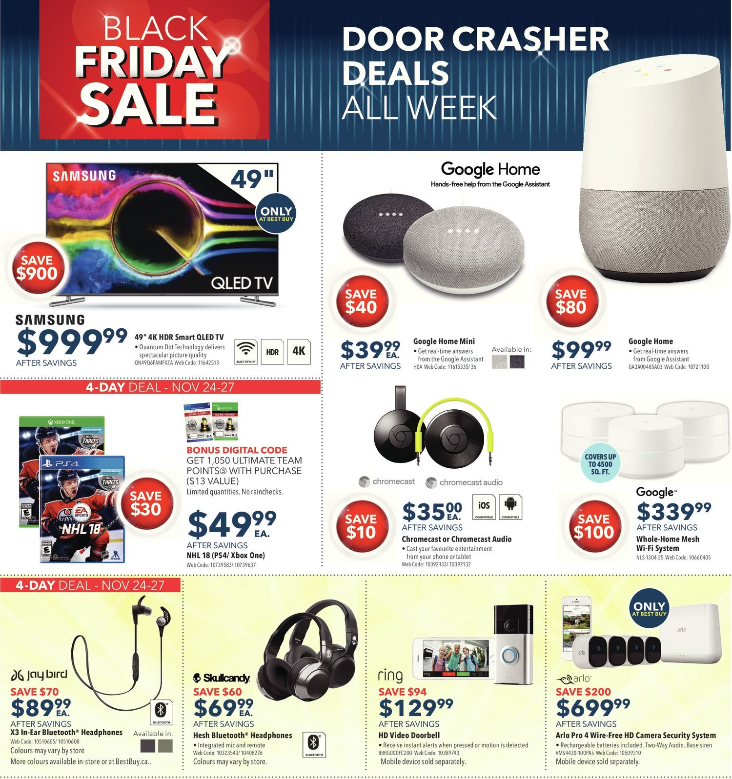 Best Buy Weekly Flyer Weekly Black Friday Sale Nov 24 – 30
