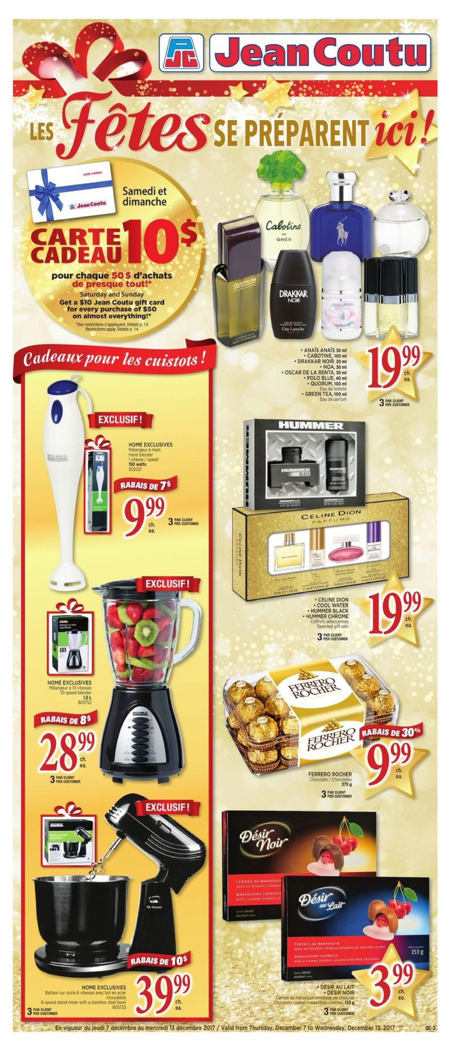 Jean Coutu Weekly Flyer Wrap Up The Holidays Dec 7 13