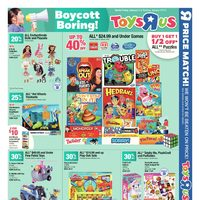 Toys R Us - 10 Day Event! - Boycott Boring! Flyer
