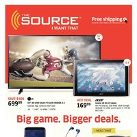 The Source - 2 Weeks of Savings - Big Game. Bigger Deals. Flyer
