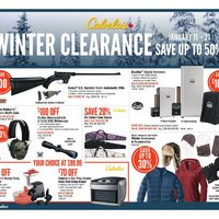 Cabelas - Winter Clearance Flyer