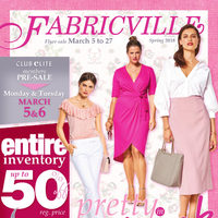 Fabricville - Club Members Only - Pretty in Pink Flyer