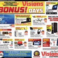 Visions Electronics - Weekly - Bonus! Days Flyer