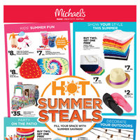 Michaels - Weekly - Hot Summer Steals Flyer