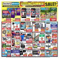 Factory Direct - Weekly - Sizzling Summer Sale! Flyer