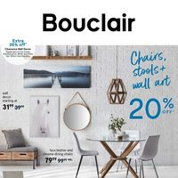 Bouclair - Weekly - Chairs, Stools + Wall Art Flyer