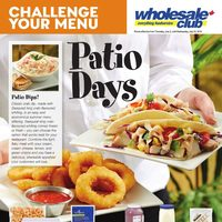 Wholesale Club - Challenge Your Menu - Patio Days Flyer