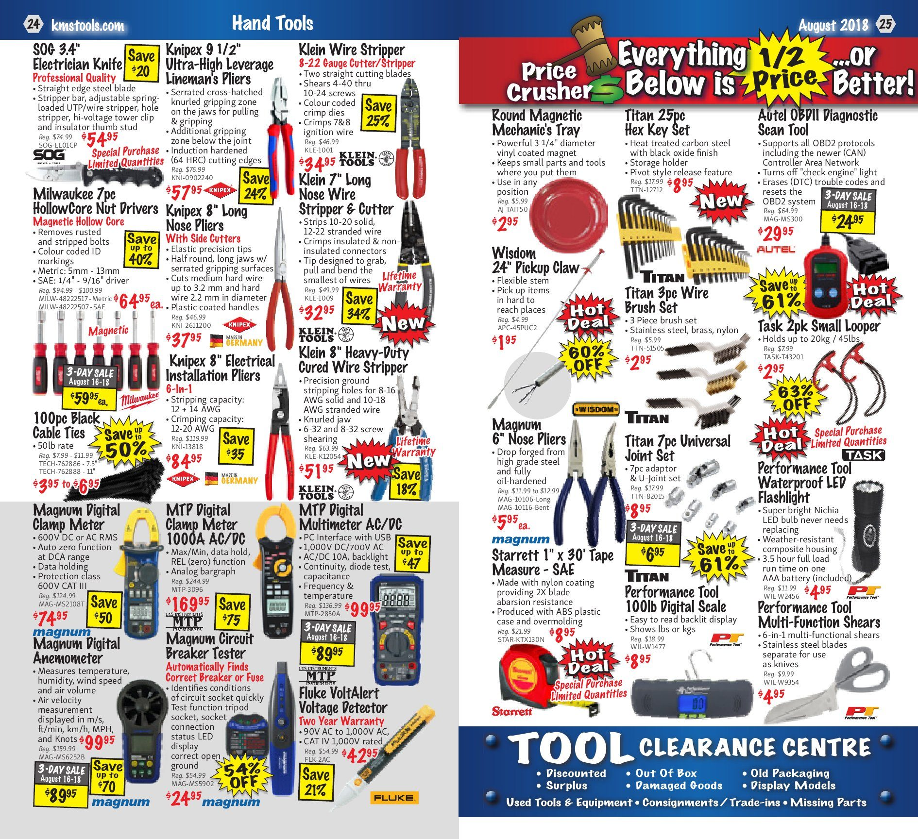Kms Tools Weekly Flyer Back To Trades Sale Aug 1 31 Use Toggle Switch 20amp And Side Wired Singlepole 81200 W