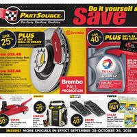 PartSource - Do It Yourself & Save Flyer