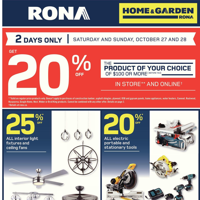 Rona Weekly Flyer Home Garden Oct 25 31 Redflagdeals