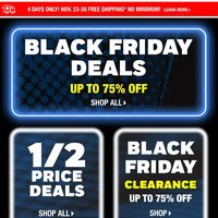 - Black Friday 1/2 Price Deals Flyer