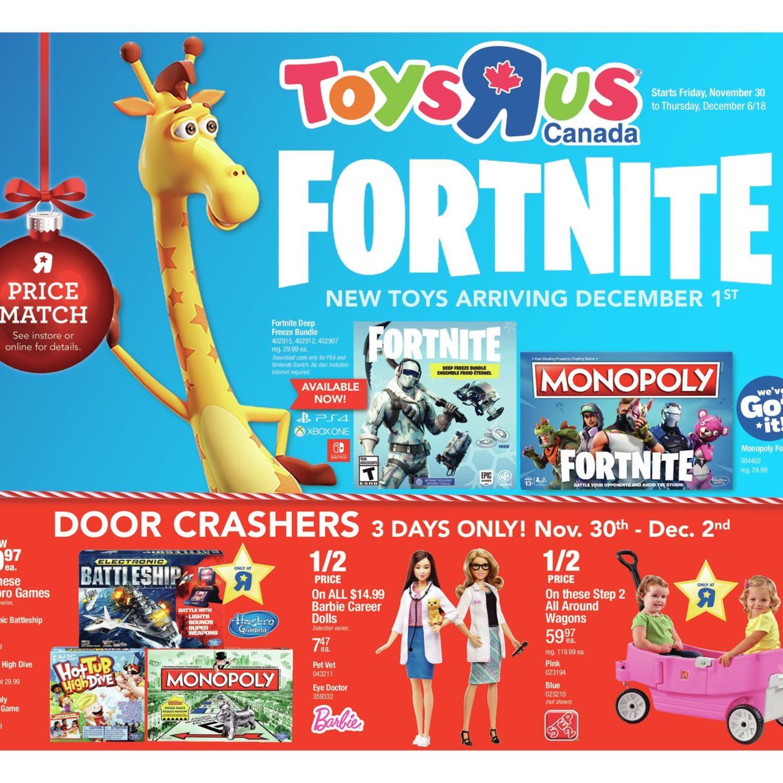 Toys R Us Weekly Flyer Weekly Fortnite Nov 30 Dec 6