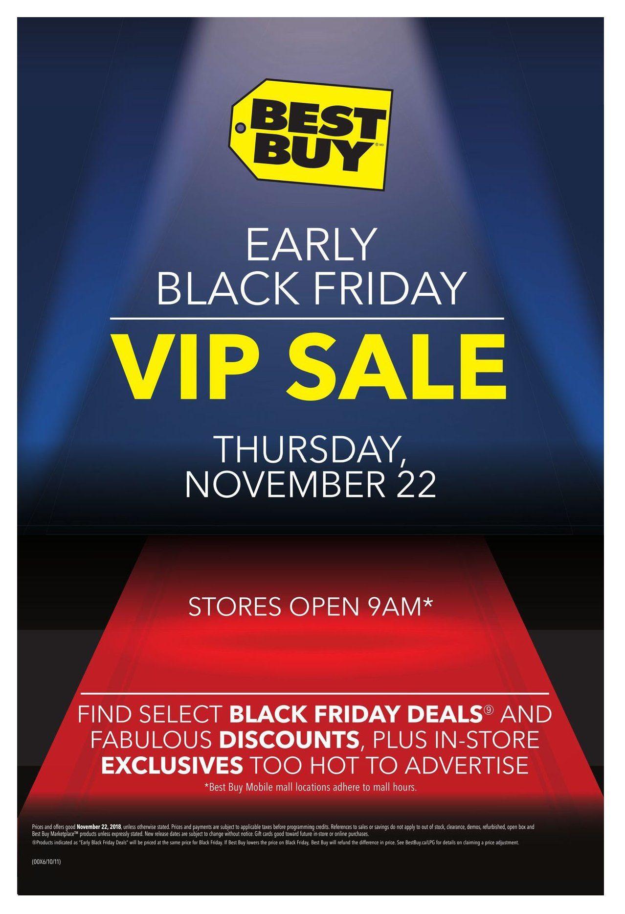 ca6ec65bdbb6 Best Buy Weekly Flyer - Early Black Friday V.I.P. Sale - Nov 22 – 22 -  RedFlagDeals.com