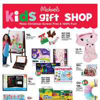 Michaels - Weekly - Kids Gift Shop Flyer