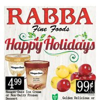 Rabba Fine Foods - Weekly Specials - Happy Holidays Flyer