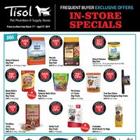 Pet Valu - Tisol Frequent Buyer Exclusive Offers - In-Store Specials Flyer