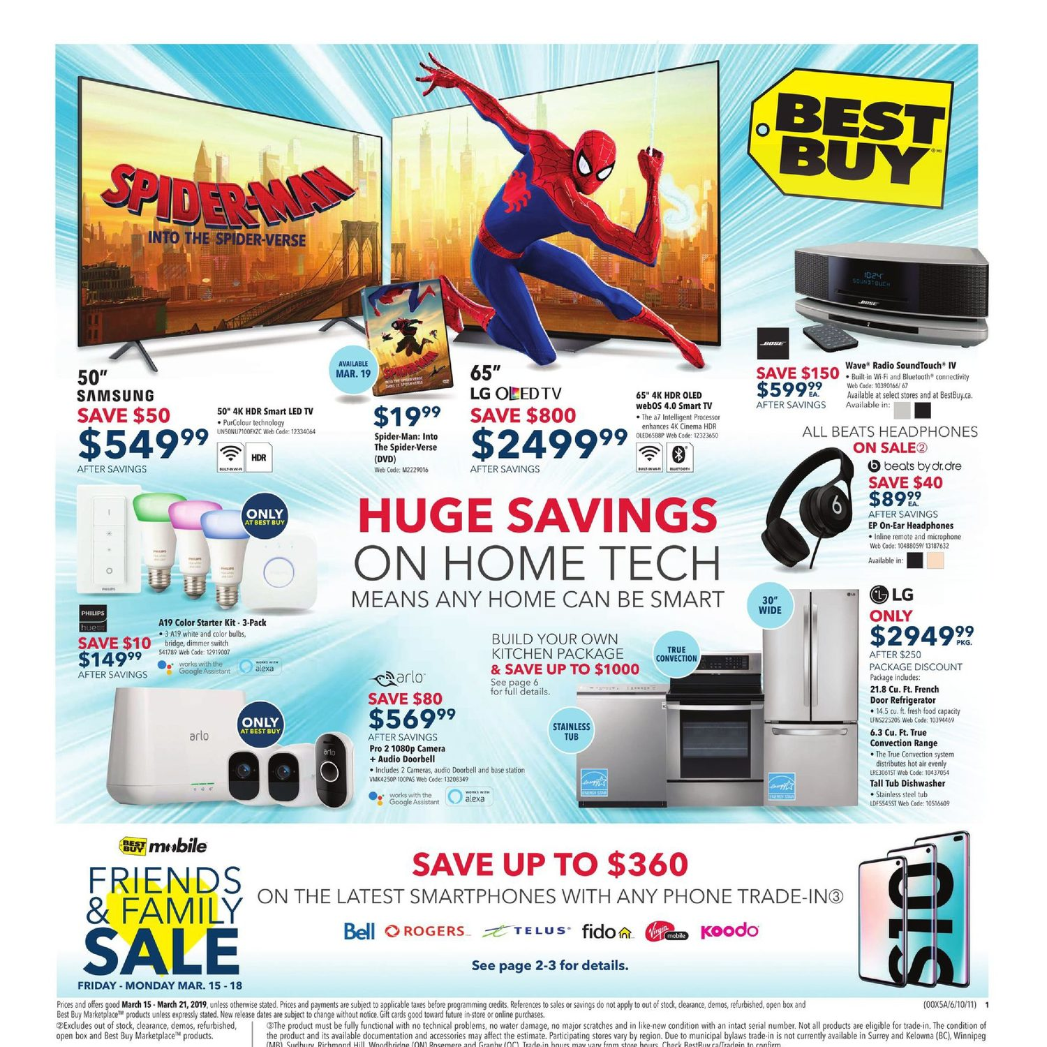 Best Buy Weekly Flyer - Weekly - Huge Savings on Home Tech - Mar 15