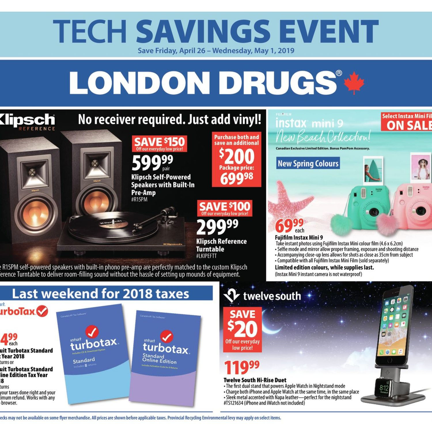 London Drugs Weekly Flyer - Tech Savings Event - Apr 26 – May 1