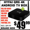 Hyfai QR6 4k Android Tv Box