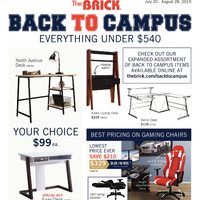 The Brick - Back To Campus Flyer
