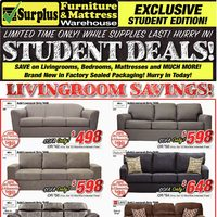 Surplus Furniture - Student Deals! Flyer