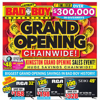 Bad Boy Furniture - Grand Opening Chainwide Sales Event Flyer