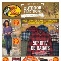 Bass Pro Shops - Outdoor Traditions! Flyer