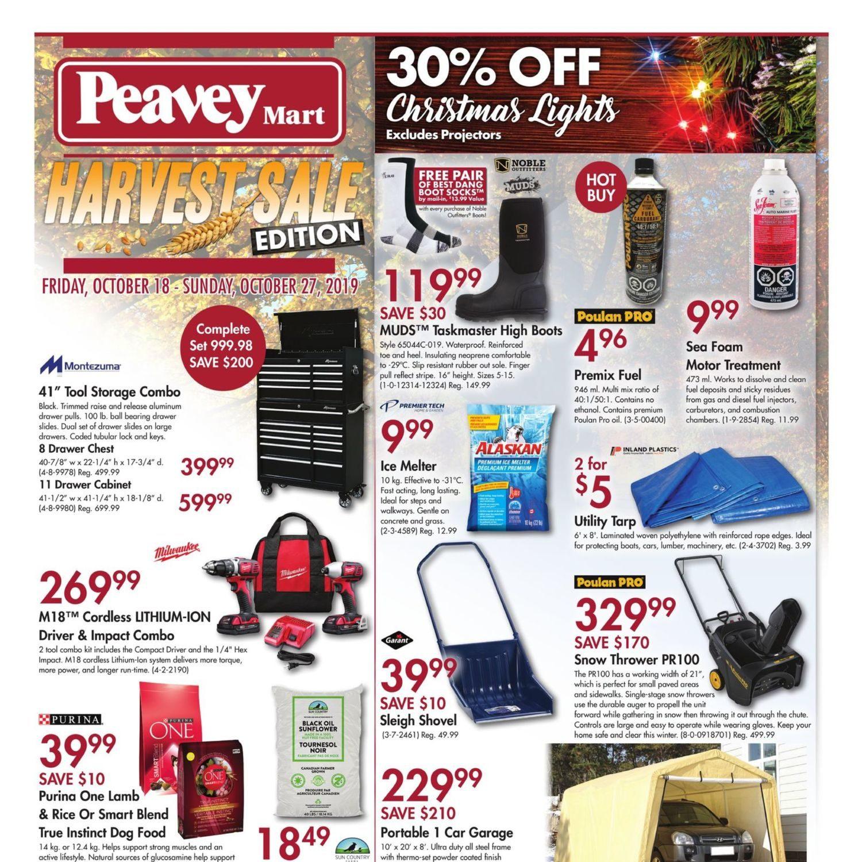 Peaveymart Weekly Flyer Harvest Sale Edition Oct 18 27 Redflagdeals Com