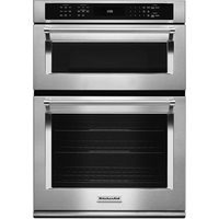 "KitchenAid 30"" 5.0 Cu. Ft./1.4 Cu. Ft. Self-Clean Convection Electric Combination Wall Oven"