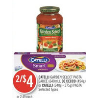 Catelli Garden Select Pasta Sauce, De Cecco Or Catelli Pasta