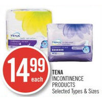 Tena Incontinence Products