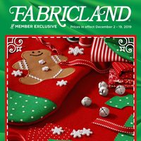 Fabricland - Handmade For The Holidays Flyer
