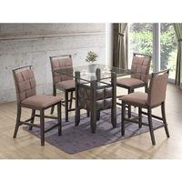 5 PC Glass Pub Dinette