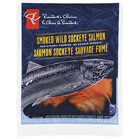 PC Smoked Salmon or Pc Pacific Large White Shrimp, Raw Zipperback