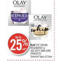 Olay Eye Cream, Regenerist Or Age Defy Skin Care Products