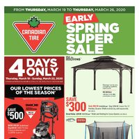 - 8 Days of Savings - Early Spring Super Sale Flyer