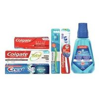 Colgate or Crest, Adult or Kid's Toothpaste, Oral-B or Colgate Toothbrushes or Colgate or Crest Pro-Health Mouthwash