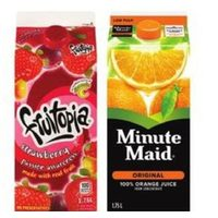 Minute Maid Orange Juice Fruitopia or Five Alive